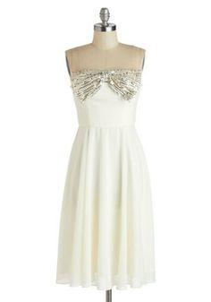 White Tie Optional Dress, #ModCloth