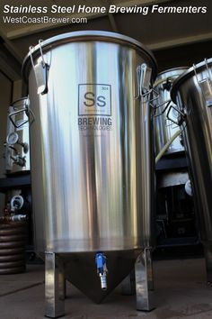Stainless Steel Conical Fermenter / Stainless Steel Brew Bucket for Home Brewers  http://www.westcoastbrewer.com/BrewersBlog/home-brewing-equipment/stainless-steel-fermenters-for-the-home-brewing/