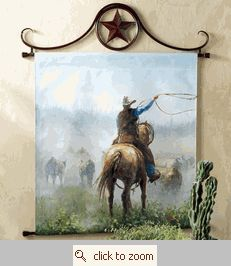 Cattle Herd Oil Painting Wall Hanging