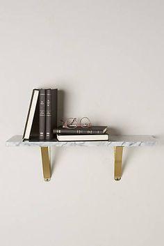 Bracketed Marble Shelf