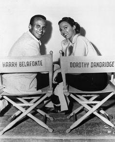 LIGHTS, CAMERA, ACTION | 1954 — Harry Belafonte and Dorothy Dandridge on the set of Carmen Jones