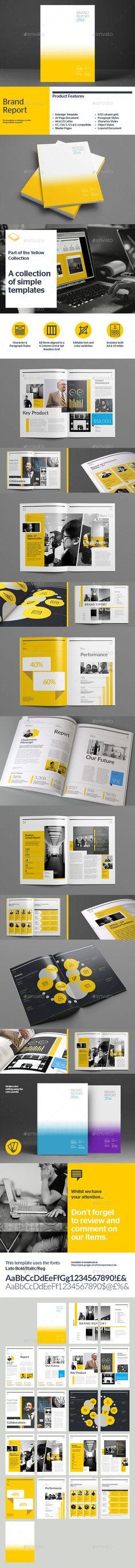 Brand Report Brochure / Book Template #design Download: http://graphicriver.net/item/brand-report/9959444?ref=ksioks