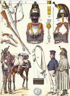 SOLDIERS- Rousselot: NAP- France: Cuirassiers 1810-1814 (pl 37) 2a