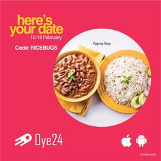 Awesome offer for your Valentine Shenanigans!!  Use Code 'RICEBUGS' & grab 50% discount* on order of 2 or more rice combos from Oye24's App/Web during 3 PM to 9 PM - 12th FEB to 16th FEB. Visit now: www.oye24.com  Download the #app #valentinesday  #love  #wednesdaywisdom  #foodie  #food #foodgasm #Foodie #discount foodporn #discount