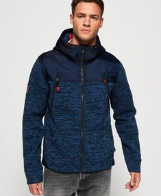 48bd638ecb2 Shop Superdry Mens Mountain Zip Hoodie in Indigo Navy Marl. Buy now with  free delivery from the Official Superdry Store.