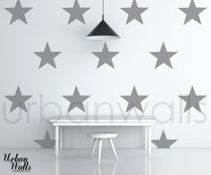 Stars - the perfect wall decal for an office or nursery.