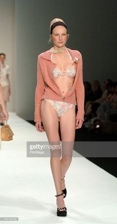 Model wearing Ronit Zilkha during London Fashion Week Spring/Summer 2006 - Ronit Zilka - Runway and Front Row at BFC Tent, Natural History Museum in London, Great Britain.