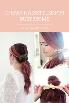 Look cute and put together even on busy days! Super Easy Hairstyles, Cute Hairstyles, Girl Hair Bows, Girls Bows, Mom Fashion, Hair Care Tips, Protective Hairstyles, Damaged Hair, About Hair