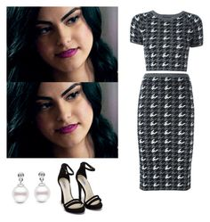 Veronica Lodge - Riverdale by shadyannon on Polyvore featuring polyvore fashion style Alice + Olivia Nly Shoes clothing