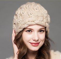 Fashion winter knit hat for women