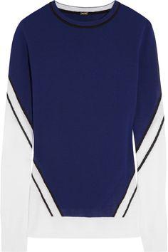 Intarsia merino wool sweater, Adam Lippes, 3.900 kr.
