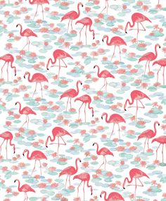 Love the soft hues & the transformation of the flamingo. Vintage Flamingos by Natalie Ryan #pattern #illustration