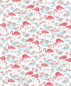 Vintage Flamingos