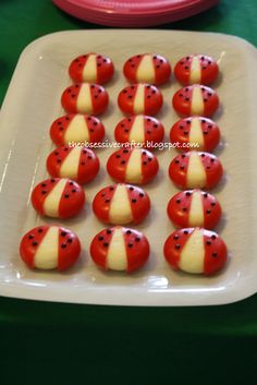 Preppy Ladybug Birthday Party Ideas Baby Bel Cheese ladybugs The Obsessive Crafter: Party Planning: Isabel's First Birthday Baby First Birthday, First Birthday Parties, First Birthdays, Birthday Ideas, Fairy Birthday, 5th Birthday, Cute Food, Good Food, Ben E Holly