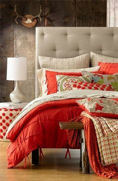 Add some a pop of color to the bedroom