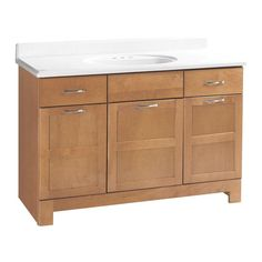 Glacier Bay Casual 48 in. W x 21 in. D x 33-1/2 in. H Vanity Cabinet Only in Harvest-CHVT48DY at The Home Depot