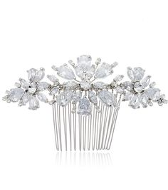 Crystal Flower Comb - Perfect finishing touch for a bridal up do.  bridal  hair 9ff099718526