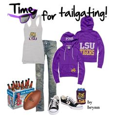"""Geaux Tigers!"" by dinkdown on Polyvore"