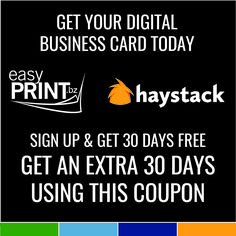 easyPrint & Haystack Business Card #foreverfit #fft #easyprint Digital Business Card, Business Cards, Simple Prints, You Got This, Lipsense Business Cards, Its Ok, Name Cards, Visit Cards