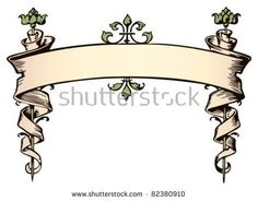 Illustration about Decorative, old fashioned banner scroll. Illustration of illustration, hallmark, banner - 13990028 Graffiti Lettering, Lettering Design, Hand Lettering, Typography, Scroll Tattoos, Banner Drawing, Pinstriping Designs, Fashion Banner, Leather Carving