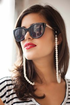 Pearl Sunglass Strap | DIY Accessories You Can Do In the Comfort of Your Couch This Winter