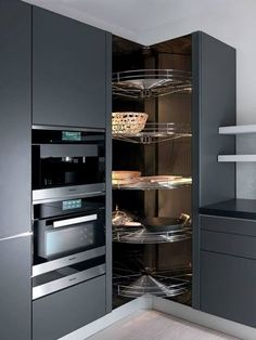 Do you want to have an IKEA kitchen design for your home? Every kitchen should have a cupboard for food storage or cooking utensils. So also with IKEA kitchen design. Here are 70 IKEA Kitchen Design Ideas in our opinion. Kitchen Pantry Design, Cute Kitchen, Home Decor Kitchen, New Kitchen, Kitchen Interior, Kitchen Storage, Kitchen Rack, Kitchen Utensils, Kitchen Tools