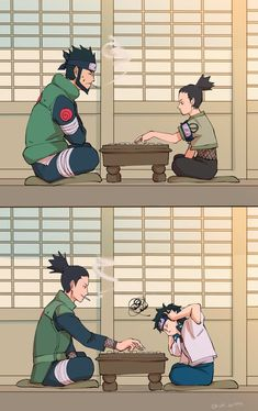 Asuma and Shikamaru. Shikamaru and Mirai Naruto Shippuden Sasuke, Naruto Kakashi, Naruto Comic, Anime Naruto, Naruto Fan Art, Wallpaper Naruto Shippuden, Naruto Cute, Naruto Wallpaper, Gaara