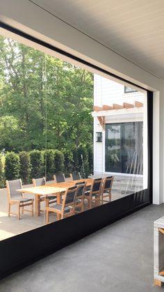 Outdoor Living Rooms, Living Spaces, Backyard Patio Designs, Backyard Shade, Terrace Design, Dream House Exterior, Modern House Design, Home Interior Design, New Homes