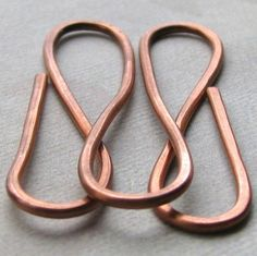 Copper Wire Money Clip or Book Mark Available in by AdroitJewelers