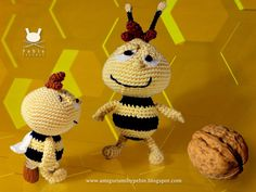 Funny Amigurumi by Pebie: Don't worry, crochet, and bee happy