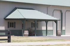 Morton Buildings storage facility with attached horse stalls in Mocksville, North Carolina.