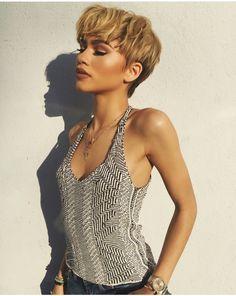 Blonde-Pixie-Cut Best Short Hairstyles for Black Women 2018 – 2019 – Schwarze Frisuren Trending Hairstyles, Pixie Hairstyles, Short Hairstyles For Women, Zendaya Hairstyles, Black Hairstyles, Easy Hairstyles, Hairstyles Pictures, Hairstyles Videos, Retro Hairstyles