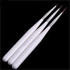 Beleshiny Nail Art Brush Set, 3psc/set Draw flowers pen brush for manicure,Professional Nail Equipment Drawing Tool
