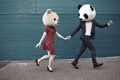 Image uploaded by Ellen Velten. Find images and videos about love, cute and couple on We Heart It - the app to get lost in what you love. Animal Masks, Animal Heads, Lets Be Weird Together, Teen Dictionary, Relationship Mistakes, Relationships, Perfect Relationship, Couple Relationship, Photo Couple