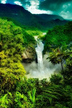 La Cascada San Rafael, Ecuador by Shobeir on Love Nature? Places Around The World, Oh The Places You'll Go, Places To Travel, Around The Worlds, Amazon South America, Ecuador Travel, Brazil Travel, Beautiful World, Beautiful Places