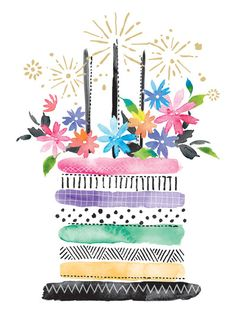 first birthday picture ideas Happy Birthday Art, Happy Birthday Pictures, Happy Birthday Messages, Happy Birthday Greetings, Birthday Wishes, Happy Birthday Painting, Birthday Cake, Watercolor Birthday Cards, Birthday Card Drawing