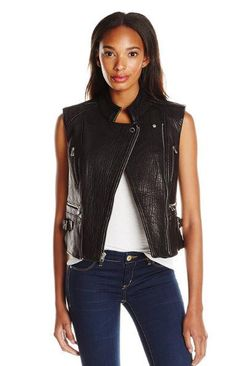 Transition into fall in this Dawn Levy moto vest.