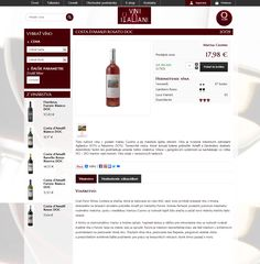 E-shop with Italian wine.