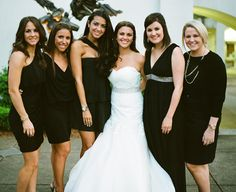 Black Bridesmaids Dresses | photography by http://www.abryanphoto.com