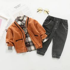 Boys Winter Clothes, Winter Outfits For Girls, Fall Outfits, Toddler Boy Fashion, Toddler Boy Outfits, Kids Outfits, Toddler Boys, Cute Boy Outfits, Baby Boys