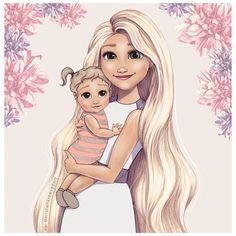 Rapunzel and baby