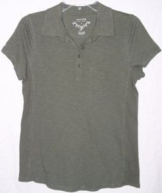 SONOMA life + style Women's Quarter Button Henley Shirt (Small, Fatigue Green) SONOMA life + style. $16.00