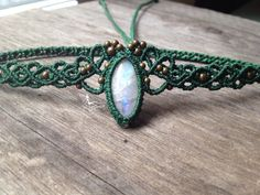 Macrame Tiara Elven Moonstone headband in par creationsmariposa, $68.00