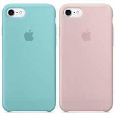 Apple Silicone Case for iPhone 7 ~ Sea Blue & Pink Sand