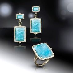 On a recent trip sourcing stones, I fell in love with the beautiful texture and color of Amazonite |  Judith Ripka