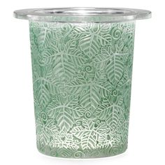 René Lalique 'FEUILLES DE VIGNE': AN ICE BUCKET clear and frosted glass, heightened with green staining, moulded with vine foliage. model created 1924.