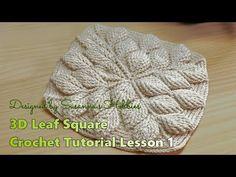 Special order : Original Design Leaf Square Blanket Crochet T. Crochet Chart, Crochet Baby, Knit Crochet, Blanket Crochet, Crochet Leaves, Square Blanket, Crochet Videos, Crochet Squares, Crochet Flowers