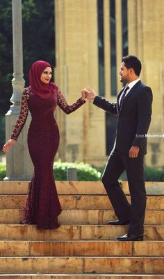 Cheap modest formals, Buy Quality long sleeve prom dresses directly from China sleeve long prom dresses Suppliers: Modest Formal Muslim Arabic Mermaid Burgundy Evening Dresses Long Sleeves Islamic Formal Prom Gowns 2017 Lace Dubai Party Dress Muslim Wedding Dresses, Muslim Brides, Muslim Dress, Wedding Hijab, Islamic Fashion, Muslim Fashion, Hijab Fashion, Fashion Dresses, Moslem