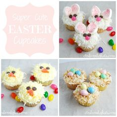 How cute are these Easter cupcakes?