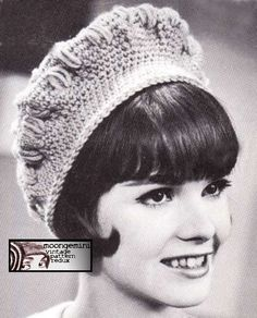 PDF Crochet Puff Beret Vintage Hat Cap Beanie Pattern Instant Download